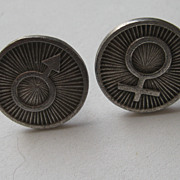 Vintage Modern Cufflinks Man Woman Gender Symbol