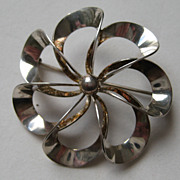 Vintage Denmark Niels Eric From Modernist Pin Sterling Silver Brooch - Red Tag Sale Item