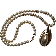Vintage Napier Mabe Pearl Long Strand BEAUTIFUL Necklace