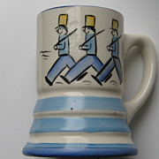 "Vintage Stangl "" MUSICAL MUG"" RARE Tin Soldiers Kiddieware Works MINT Pottery"