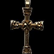 Majestic Antique Victorian CROSS Religious Symbolism c. 1870's Vintage