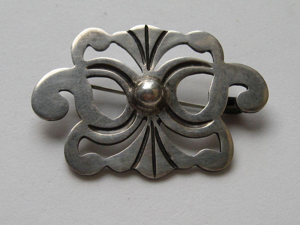 Vintage Taxco Mexico 980 Silver Exceptional Pin Brooch Mexico Vintage