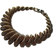 """Vintage Napier Bracelet """"Spiral Wrap"""" Modernist Gold Plated"""