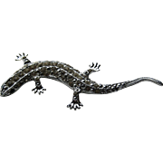 Vintage Coro Craft Salamander Lizard Figural Rhinestone 1950's 3-D Realistic