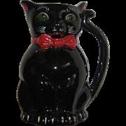 Vintage Black Cat Shafford Milk Pitcher Figural 1950's Japan