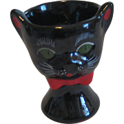 Vintage Black Cat  Egg Cup Shafford  MINT 1950's Japan