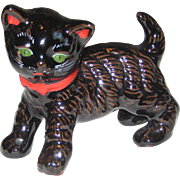 Vintage Black Cat Shafford  LARGE Figural 1950's Japan