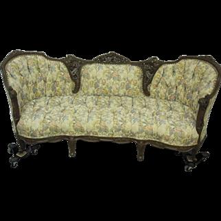 Antique Rococo Revival Style 1912 Sofa