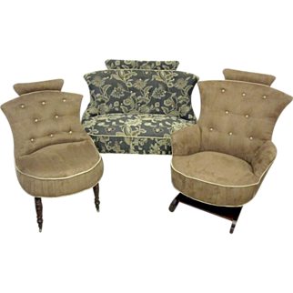 3 Piece Hollywood Regency Style Settee, Rocker And Chair
