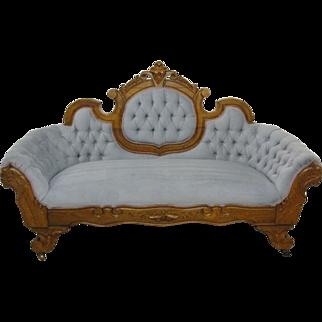 Victorian Style Button Tuft Cameo Back Sofa