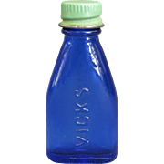 Cobalt Blue Vicks Nose Drops Bottle Sample Miniature