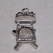 Sterling Silver Mechanical Articulated Office Desk Chair Charm