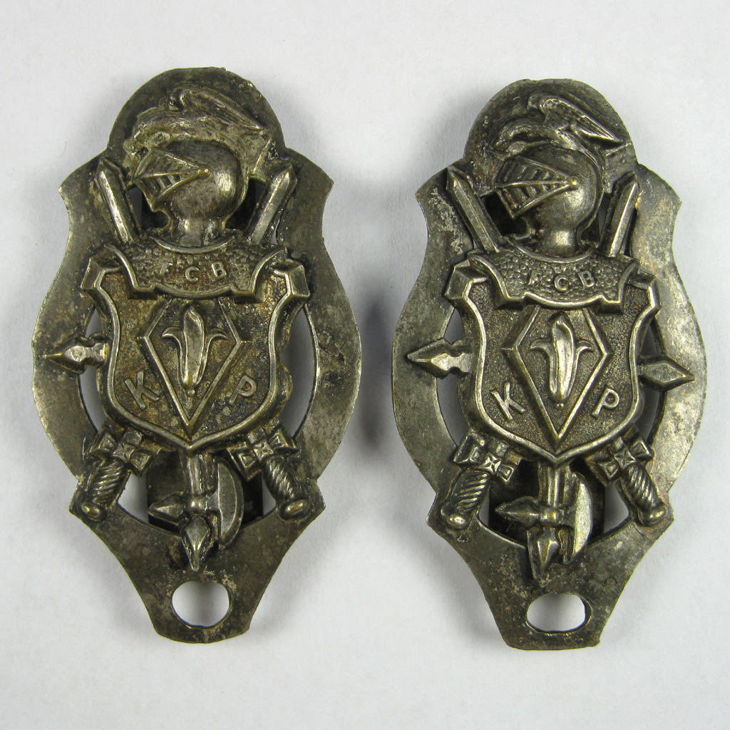 Knights Pythias Buckle Slide Sword Hangers Matched Pair