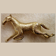Figural Boucher Galloping Horse 8012P Pin Brooch
