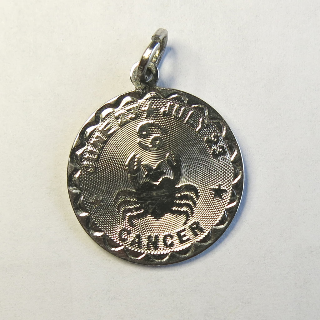 Sterling Silver Cancer Astrology Charm Vintage Disco Strobe