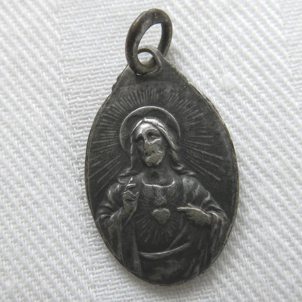 Vintage Oval Catholic Medal Charm