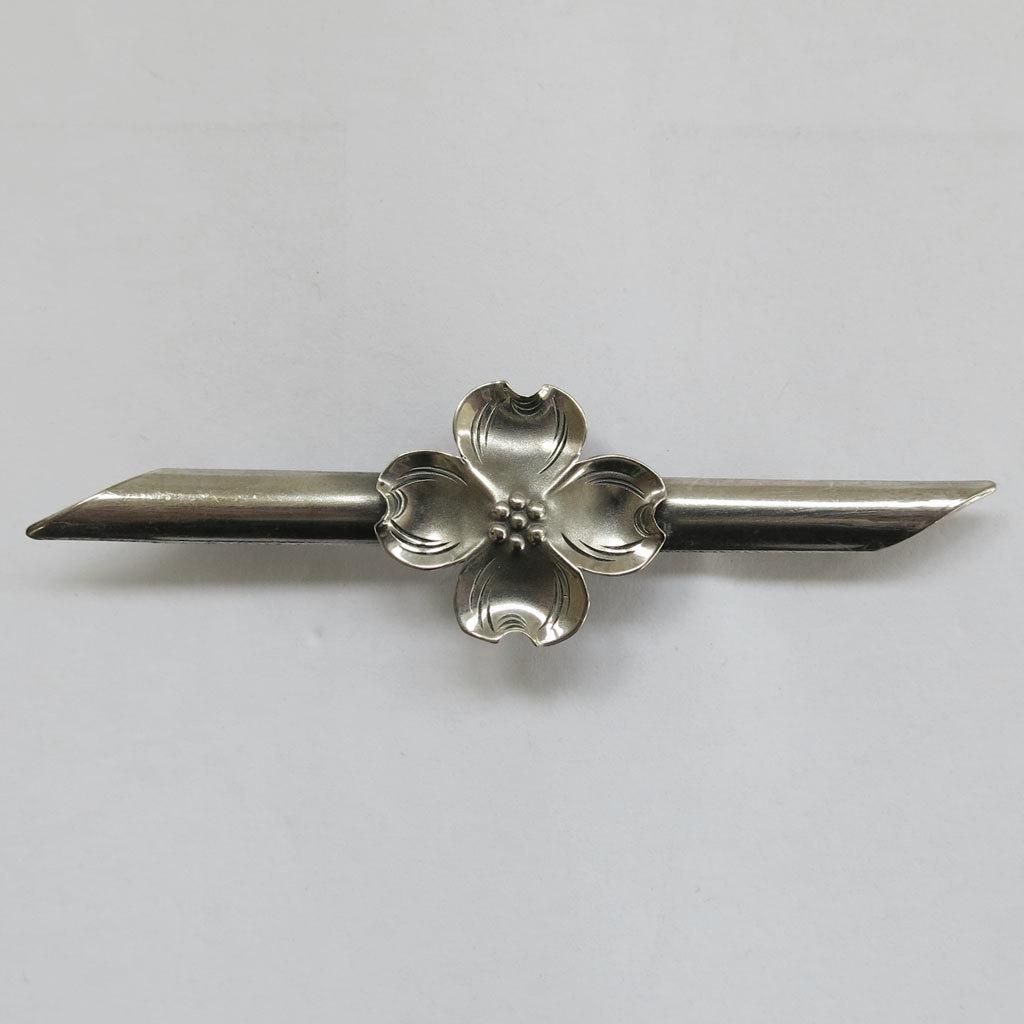 Vintage Stuart Nye Sterling Silver Dogwood Blossom Flower Pin Brooch