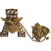 WWII West Point Pin USMA 14k Gold  United States Military Academy 1945