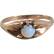 Antique Rose GF Opal Pinky Ring Baby Child Size 4