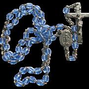Vintage Sky Blue Rosary Beads France Catholic Bride Something Blue