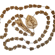 Vintage Large Italy Wall Rosary Beads 72 inches Madonna