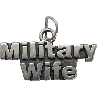 Vintage Silver Military Wife Charm Sterling Sundance Jewelry Co