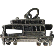 Beau Silver Figural Trolley Car Charm San Francisco Sterling
