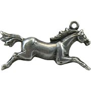 Vintage Sterling Silver Equestrian Horse Charm Jumping Galloping