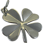 Vintage Silver Danecraft 4 Leaf Clover Charm Sterling Good Luck Charm