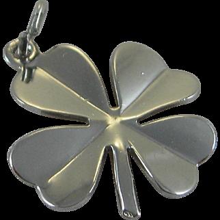 Vintage Silver Danecraft 4 Leaf Clover Charm Sterling Good Luck Charm