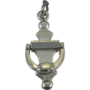 Vintage Silver Mechanical Door Knocker Charm Sterling