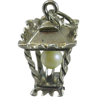Vintage Silver Lamp Light Charm Figural Sterling