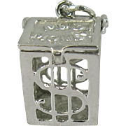Vintage Silver Mad Money Mechanical Charm Sterling Box Opens