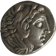 Vintage Silver Greek Tetradrachm Coin Alexander The Great ca 1962