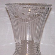 Radiance Vase with Cut No 409 Decoration by New Martinsville Depression Glass