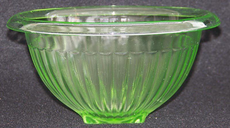 Green Depression Glass Hocking Ribbed Mixing Bowl Kitchenware Sold Ruby Lane