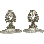 Vintage Prelude Candle Holders Pair Set New Martinsville Viking