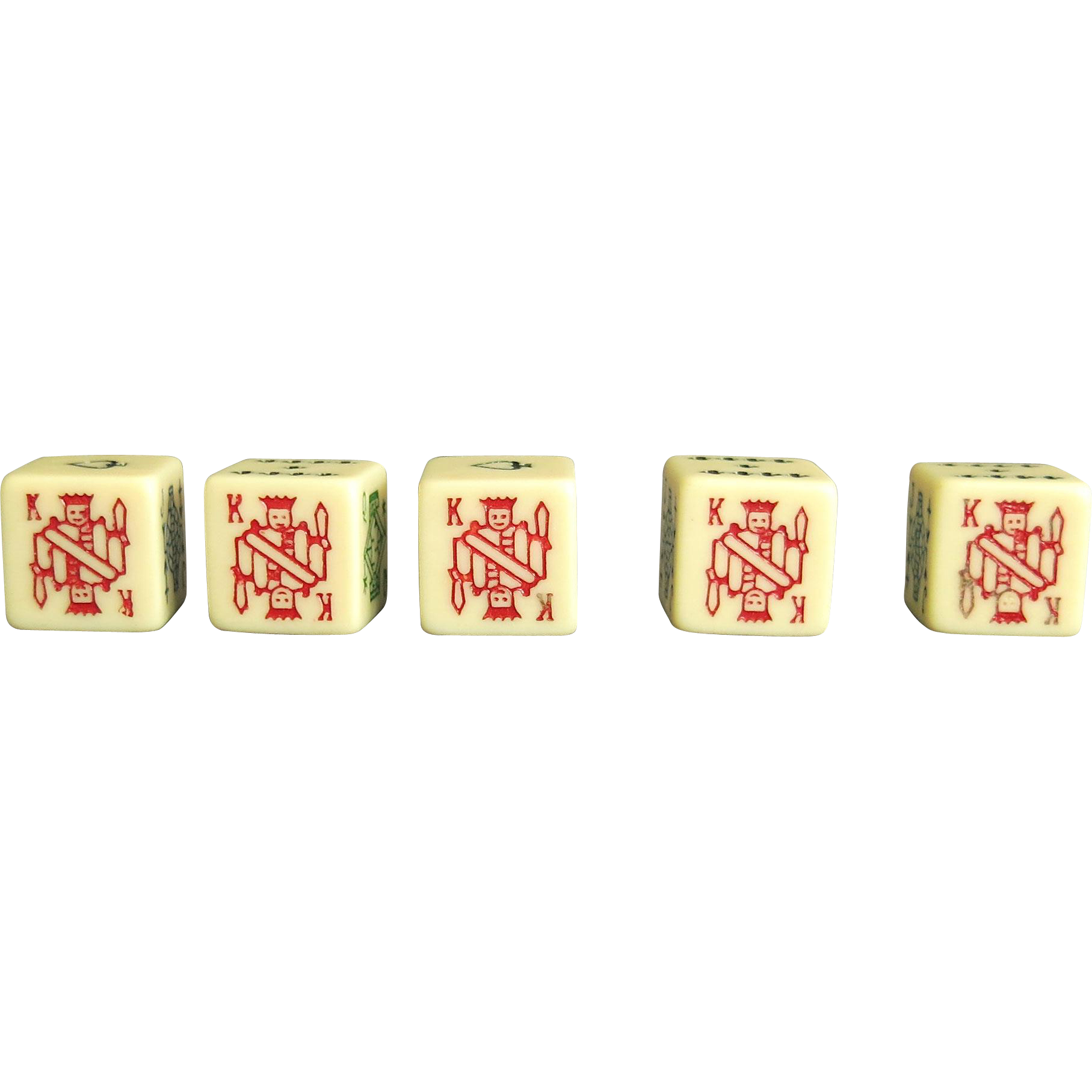 poker dice set