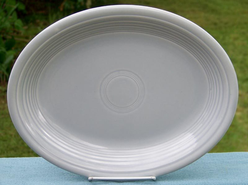 Vintage Fiesta Gray Oval Platter