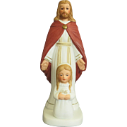 Vintage First Communion Figurine Catholic  Religious 1984 Bisque Girl's Cake Topper