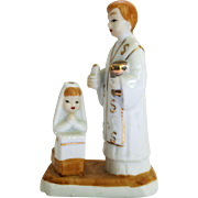 Vintage Girl's First Communion Figurine Catholic Religious Cake Topper