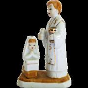 Vintage Girl's First Communion Figurine Catholic Religious Cake Topper