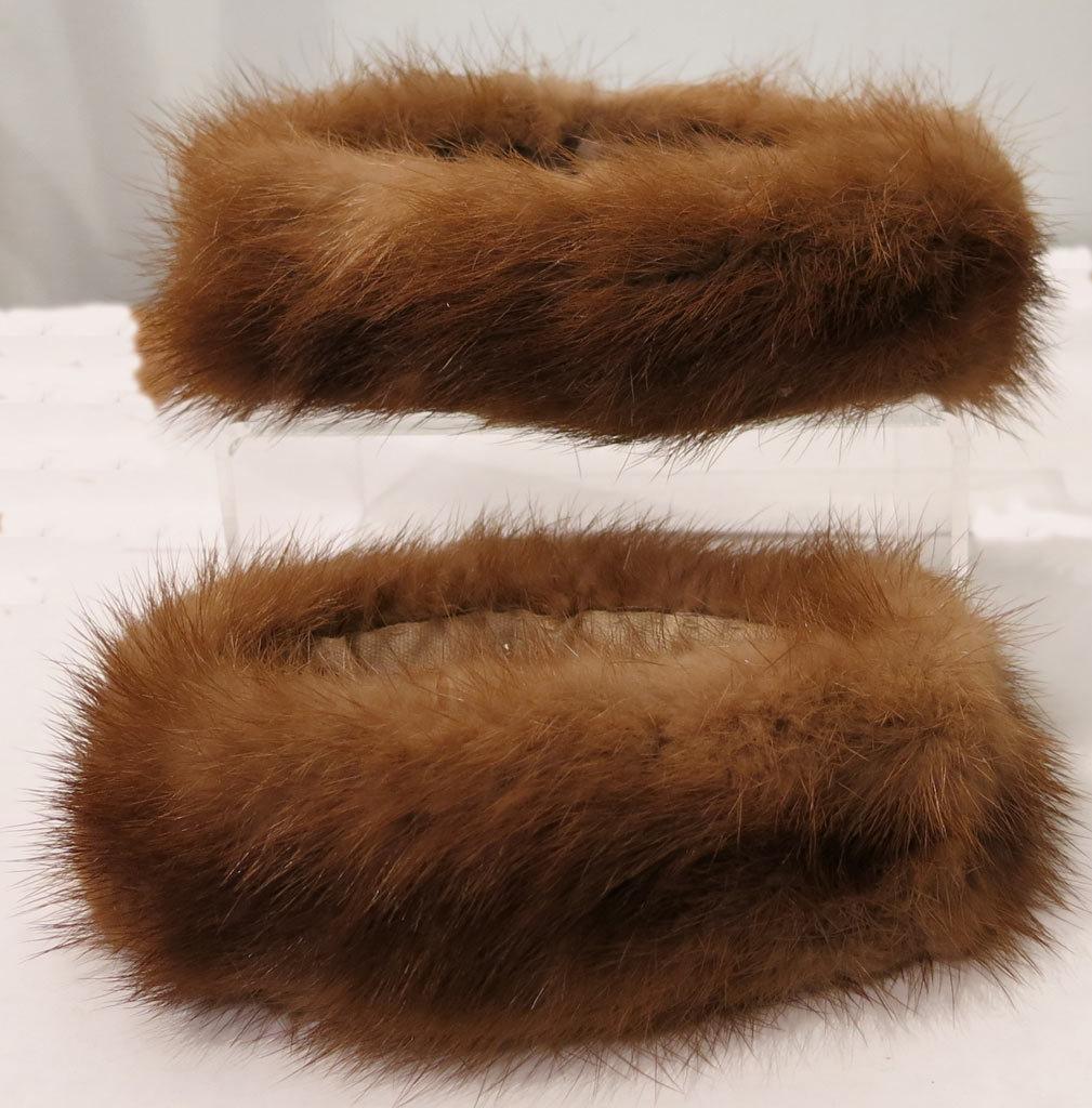 Vintage Mink Fur Sleeve Cuff Accents