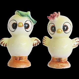 Vintage Anthropomorphic Chick Salt Pepper Shaker Set Japan