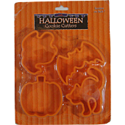 Vintage Plastic Halloween Cookie Cutters NOS Original Packaging Bat Ghost Cat Pumpkin JOL