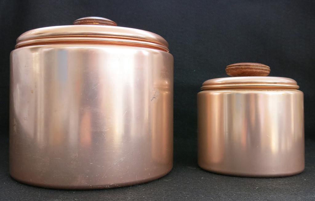 Set Of 2 Mirro Mid Century Modern Copper Color Aluminum