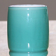 Set of 6 Fenton Spruce Green Overlay Tumblers