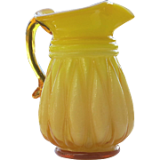 Kanawha Art Glass Melon Pitcher Cased Glass