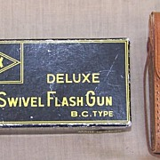 Alpex Deluxe Swivel Flash Gun Leather Case Original Box