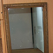 "Wonderful Vintage Wood Frame with Mirror - 17 ½"" by 9 ¾"""